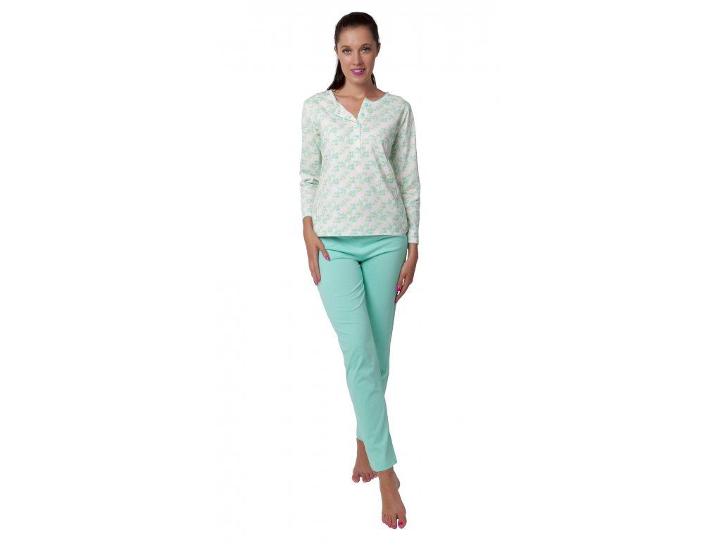 Dámské pyžamo Calvi 19-522 - zelené (Velikost XL)