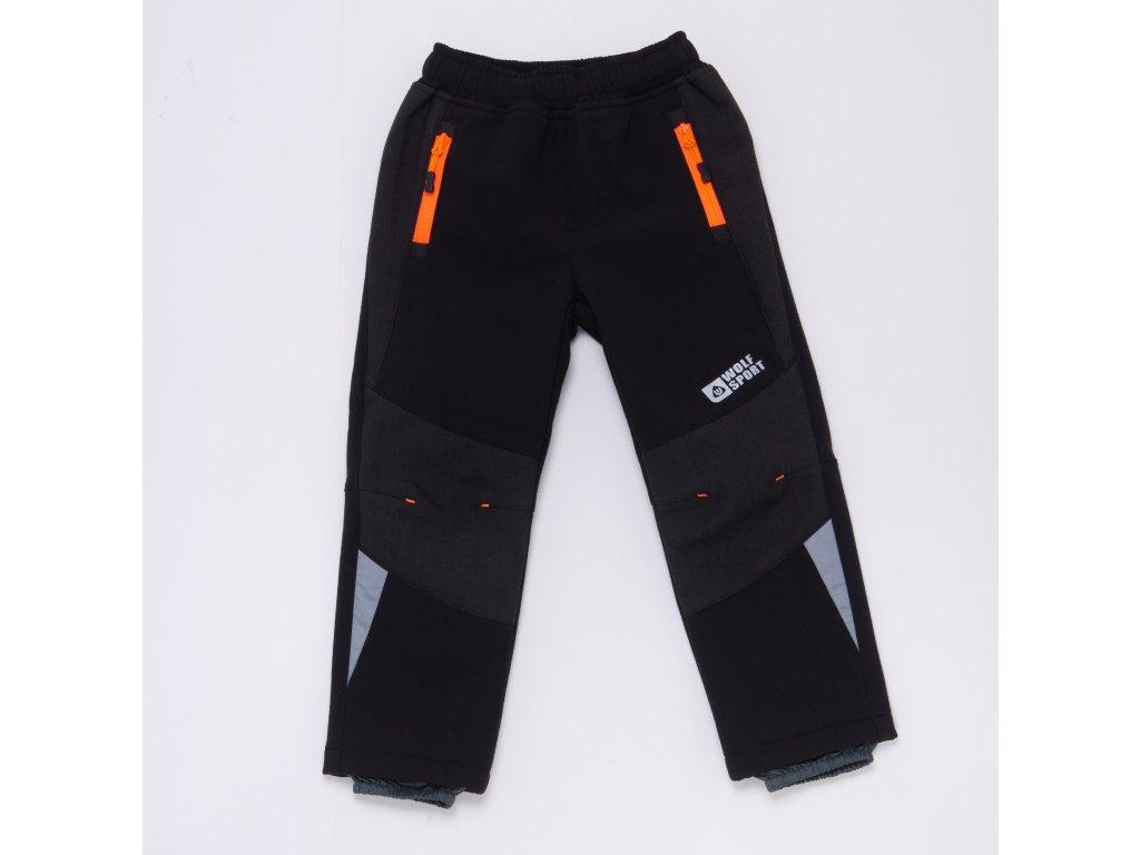 Dětské softshellové kalhoty WOLF B2989 - šedé (Velikost 128)