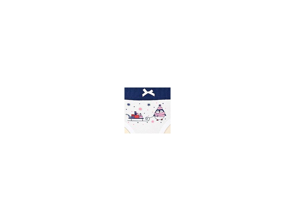Dámské kalhotky ANDRIE PS2760 - bílá, modrý lem (Velikost XL(46/48))