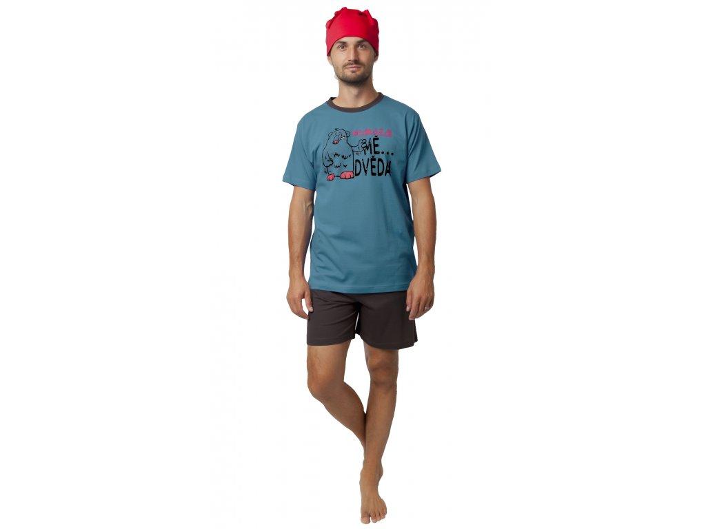 Pánské pyžamo CALVI 19-544 - petrolej (Velikost XXL)