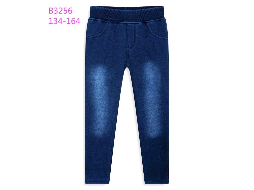 Dívčí zateplené legíny KUGO B3256 - modré (Velikost 164)