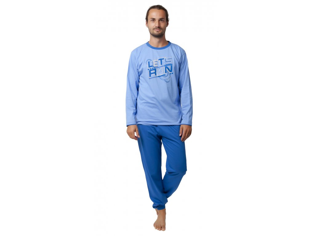 Pánské pyžamo CALVI 19-550 - modré (Velikost XXL)
