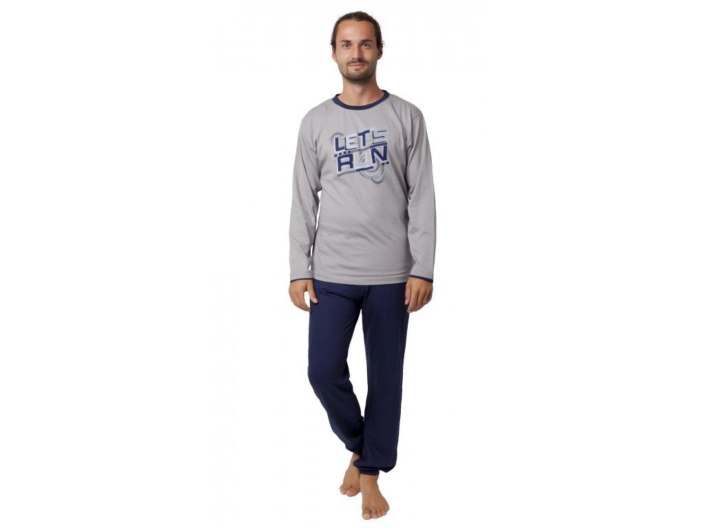 Pánské pyžamo CALVI 19-550 - šedé (Velikost XXL)