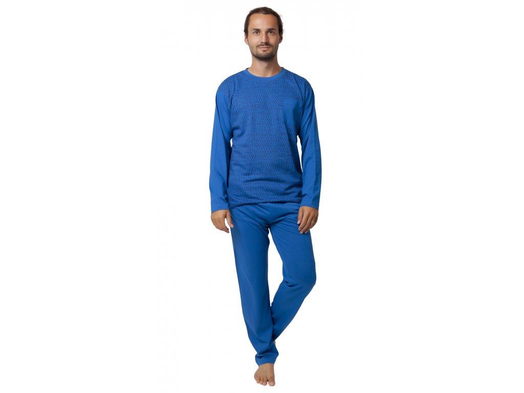 Pánské pyžamo CALVI 19-553 - modré (Velikost XXL)