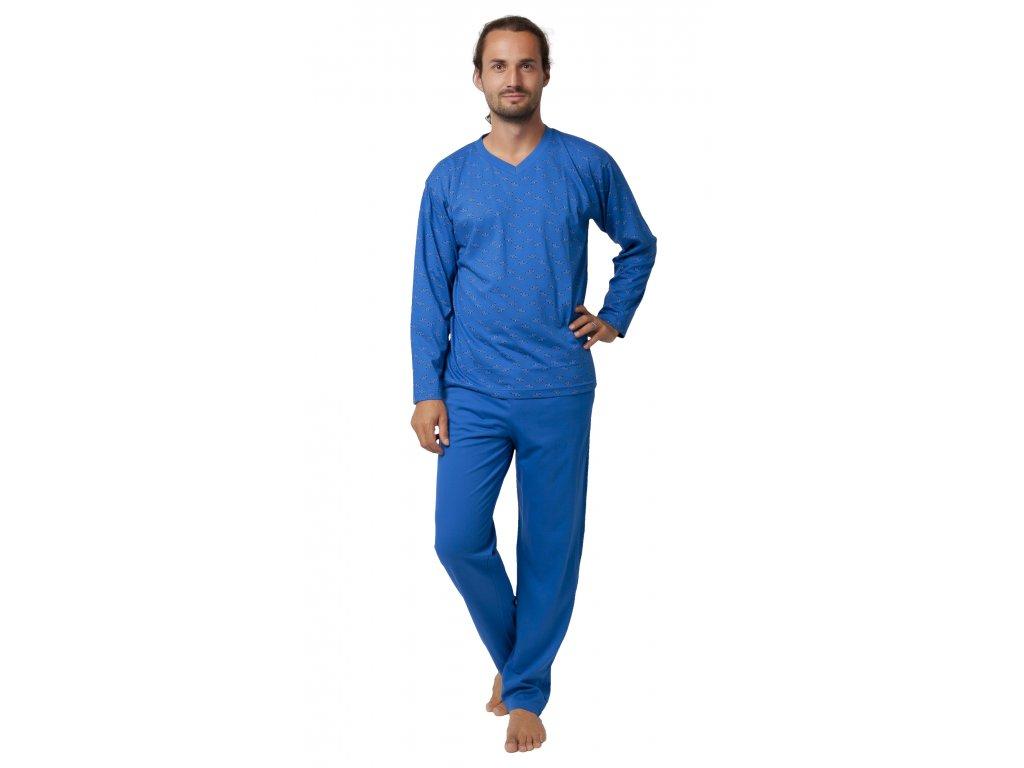 Pánské pyžamo CALVI 19-551 - modré (Velikost XXL)