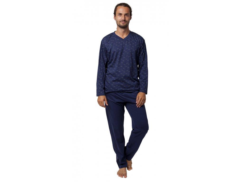 Pánské pyžamo CALVI 19-551 - tm. modré (Velikost XXL)