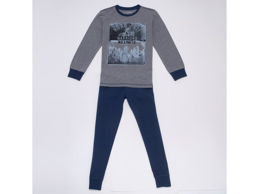 Chlapecké pyžamo WOLF S2956B - šedé (Velikost 170)