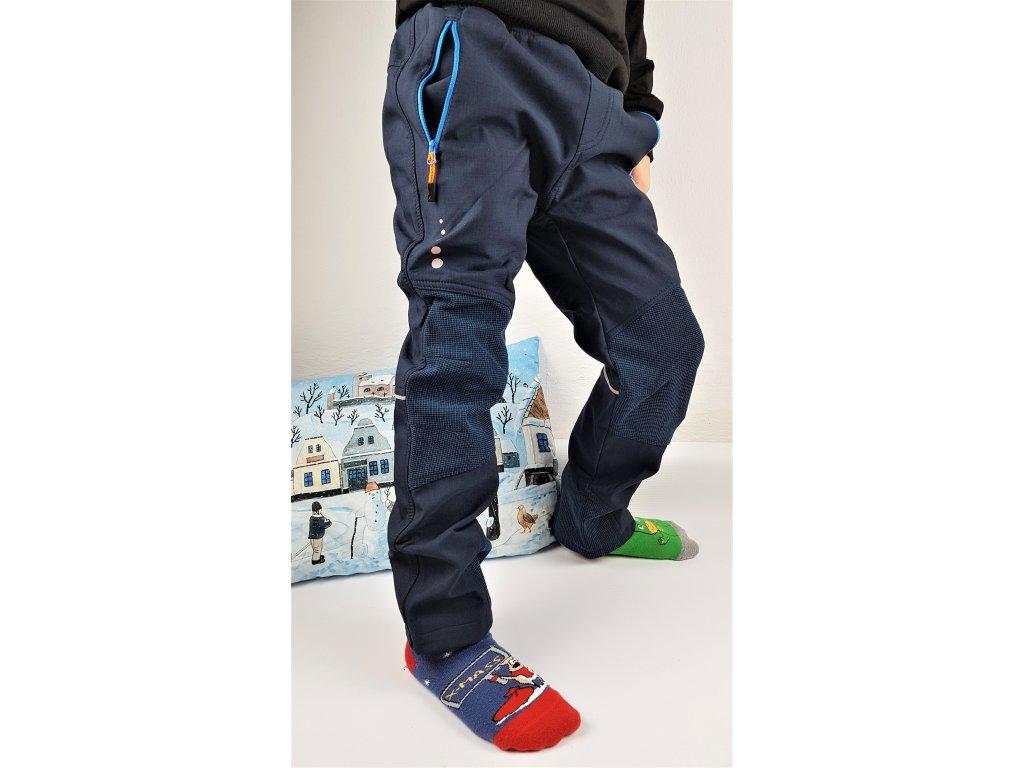 Dětské softshellové kalhoty WOLF B2997 - tm. modré (Velikost 146)