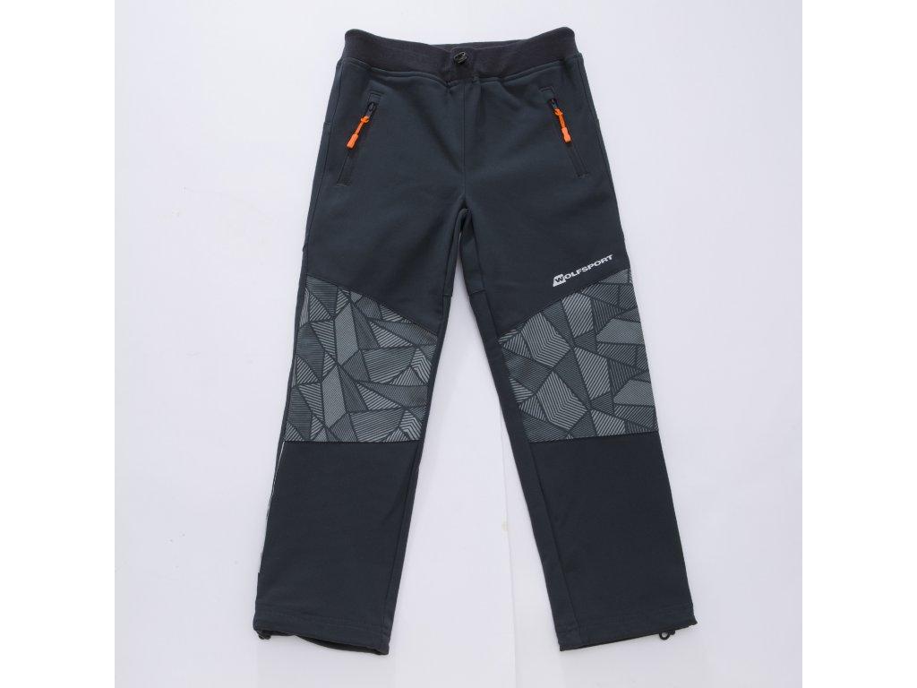 Chlapecké sofshellové kalhoty WOLF B2884 - šedé (Velikost 146)