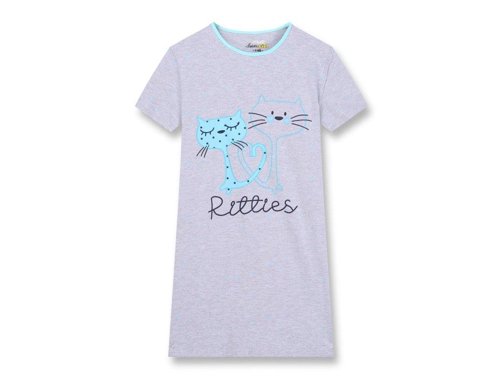 Dívčí noční košile KUGO MN-1250 - šedá, NIGHT EFFECT (Velikost 164)