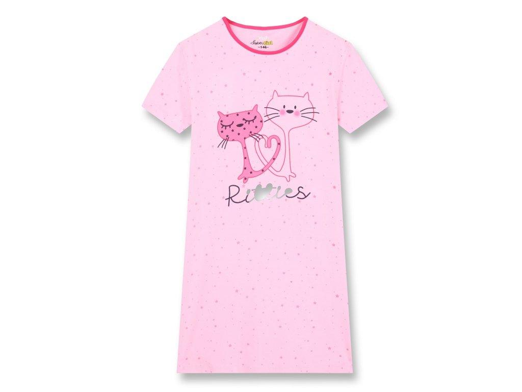 Dívčí noční košile KUGO MN-1250 - sv. růžová, NIGHT EFFECT (Velikost 164)