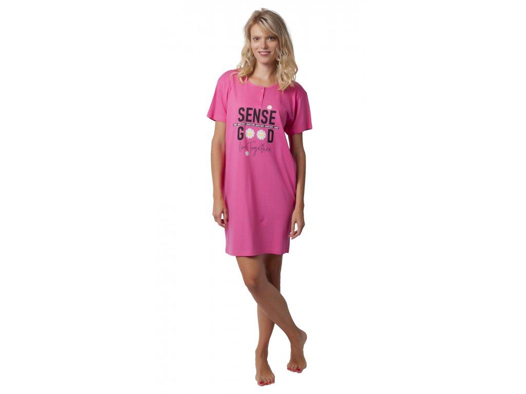 Dámská noční košile CALVI 19-498 - růžová (Velikost XXL)