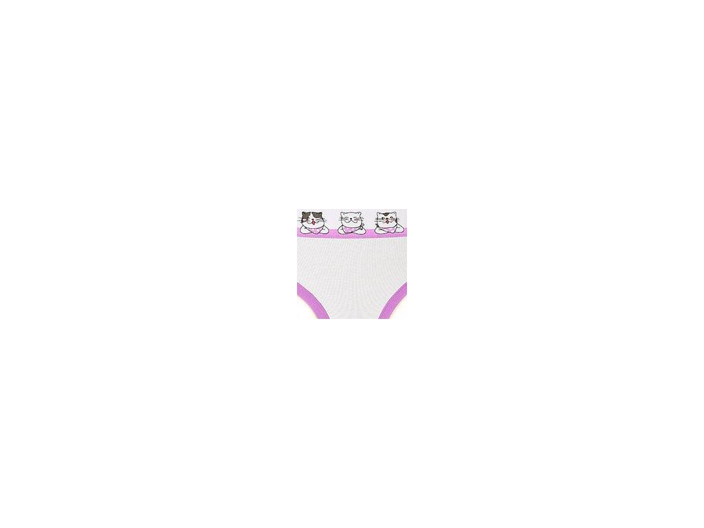 Dámské kalhotky ANDRIE PS2759 - bílé, kočička (Velikost XL(46/48))