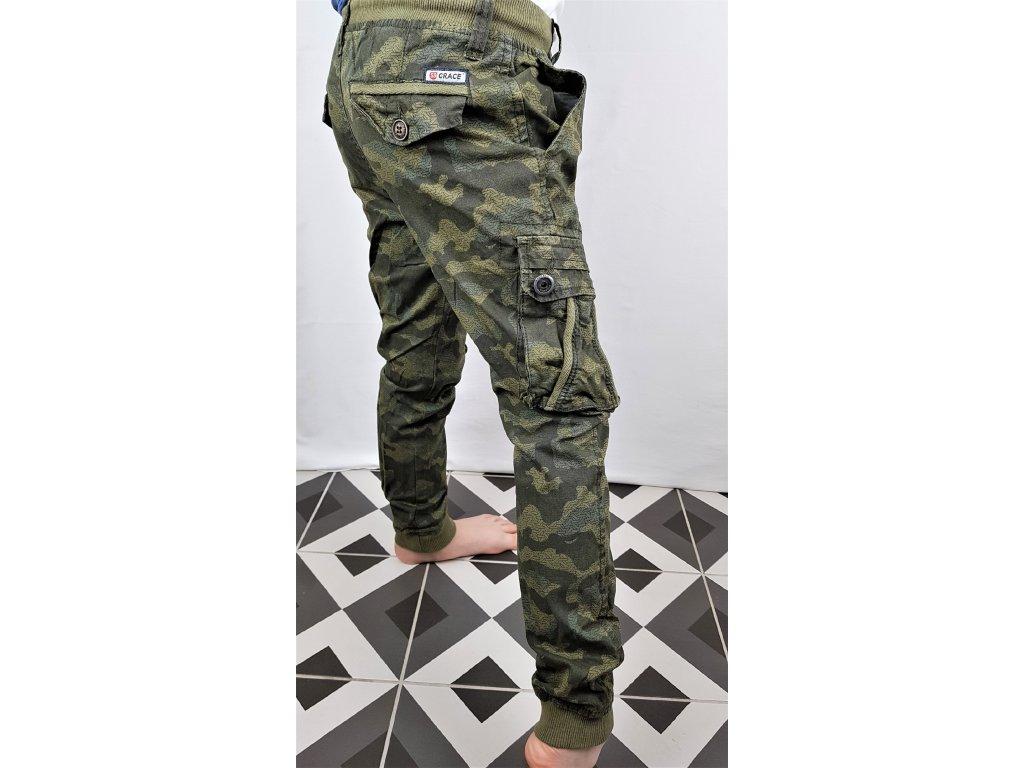 Chlapecké maskáčové kalhoty B86625 - zelené (Velikost 164)