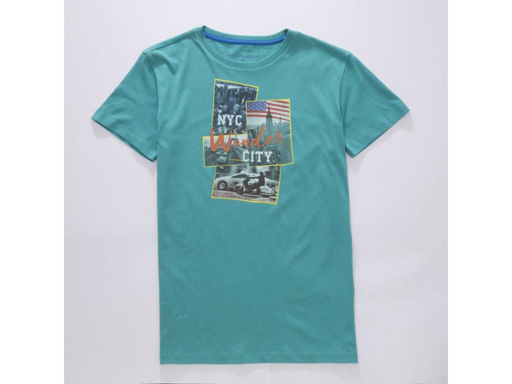 Chlapecké triko WOLF S2802 - zelené (Velikost 146)