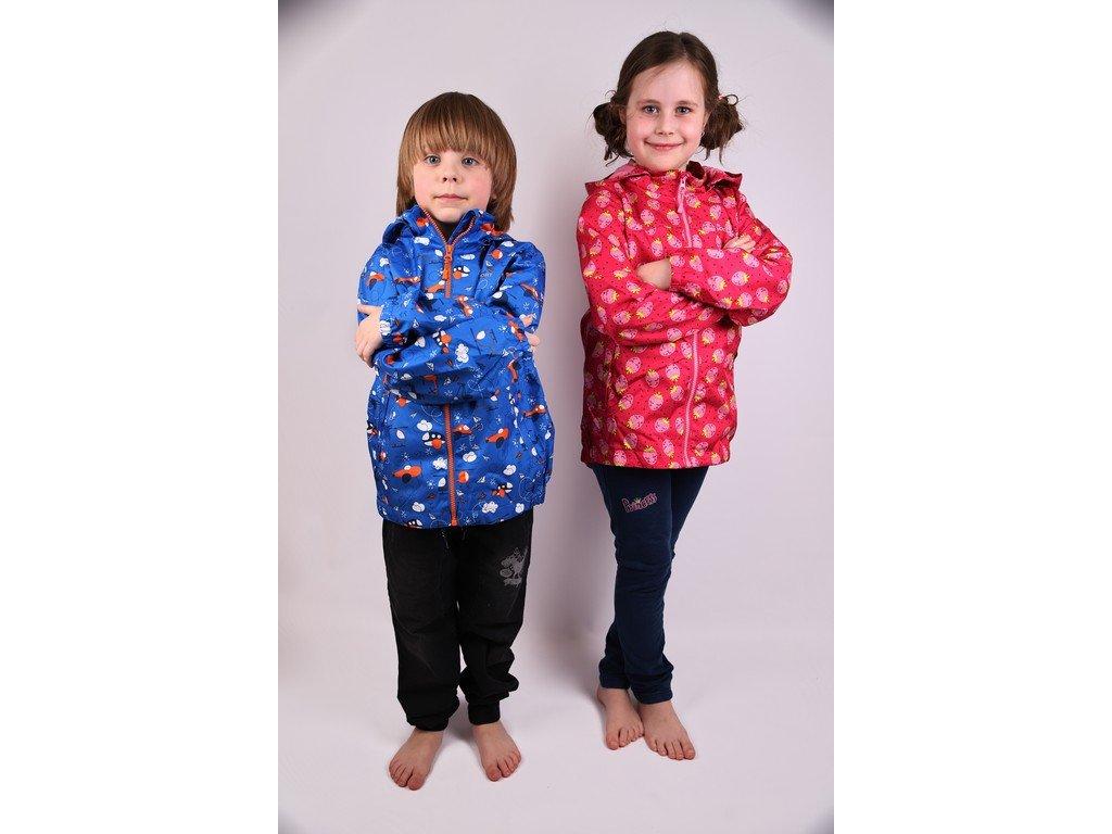 Dětská šusťáková bunda B2861 - modrá (Velikost 92/98)
