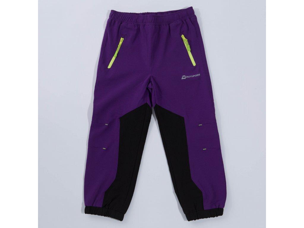 Dětské softshellové kalhoty WOLF B2886 - fialové (Velikost 128)