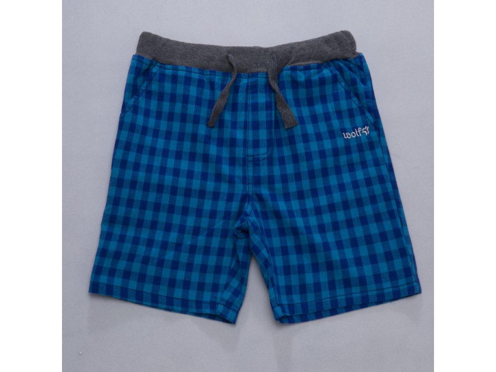Dětské chlapecké kraťasy WOLF T2756 - modrotyrkysové (Velikost 116)