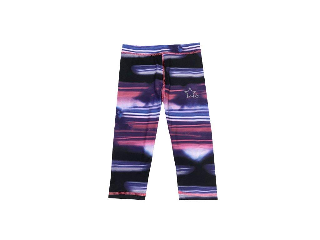 Dívčí 3/4 legíny KUGO M0235 - fialové (Velikost 128)