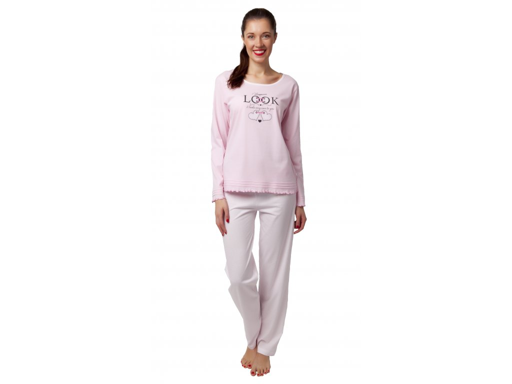 Dámské pyžamo Calvi 20-126 - sv.růžové