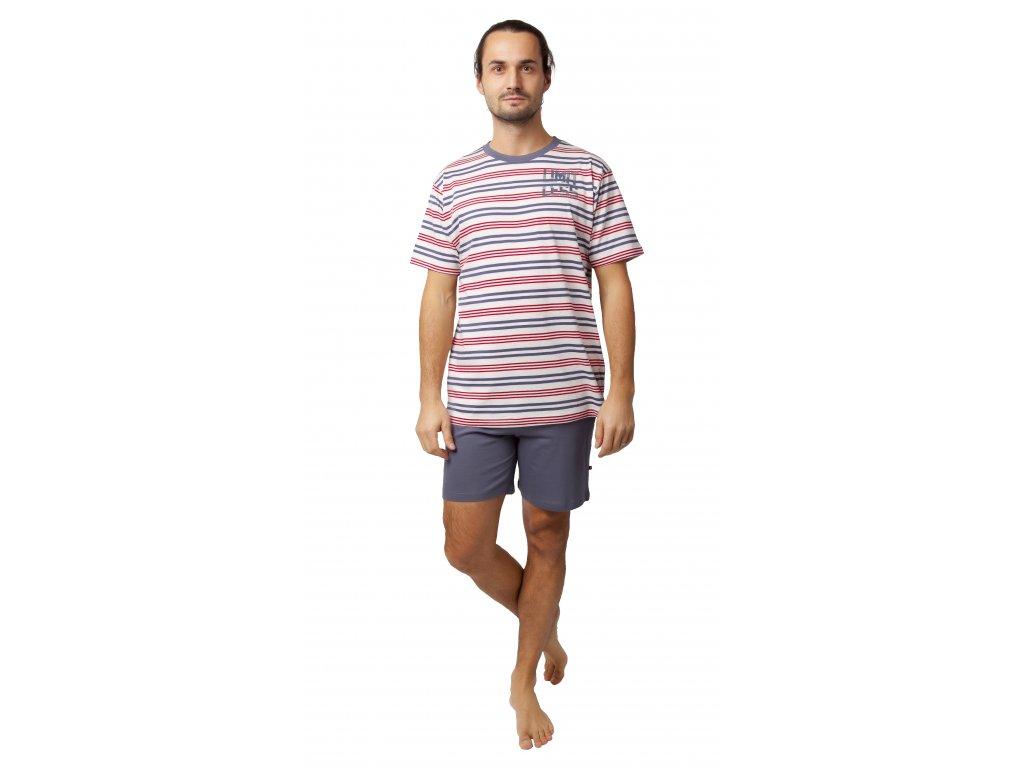 Pánské pyžamo Calvi 20-134 - béžovošedé