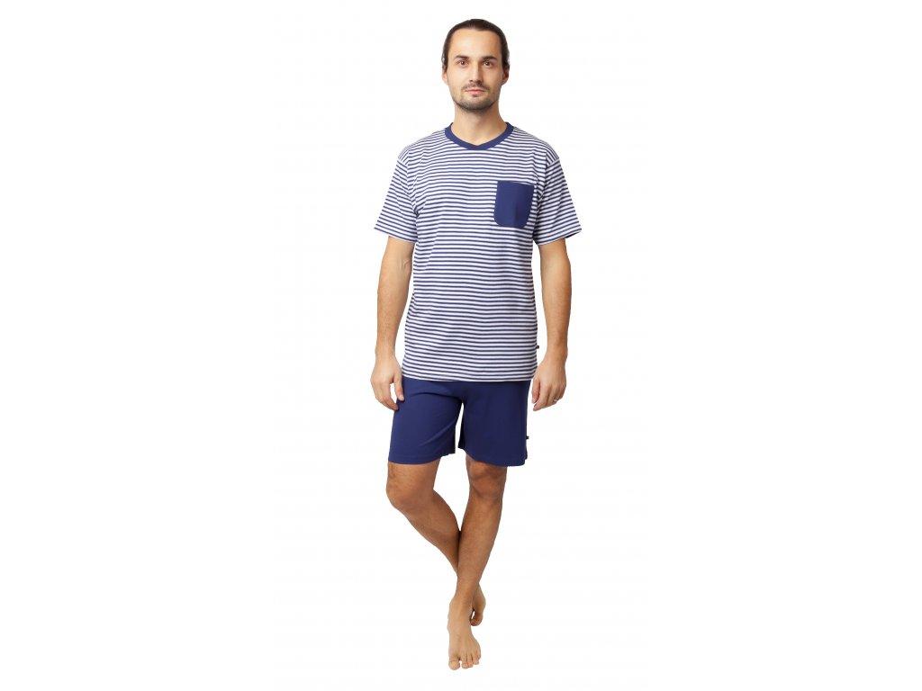 Pánské pyžamo Calvi 20-138 - modrobílé