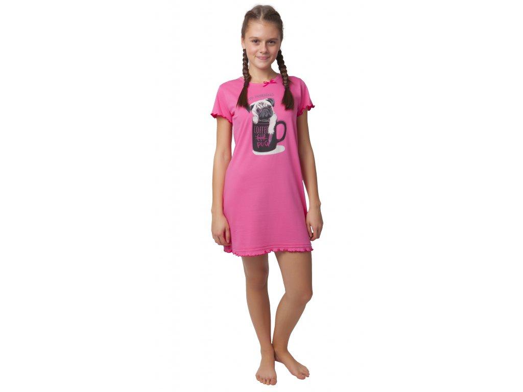 Dívčí noční košile Calvi 20-084 - růžová