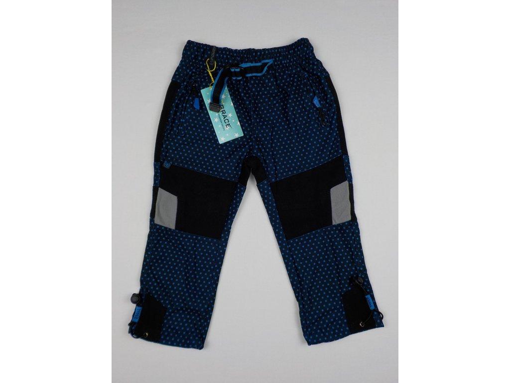 Dívčí outdoorové kalhoty Grace B-50200 - modrý puntík (Velikost 116)