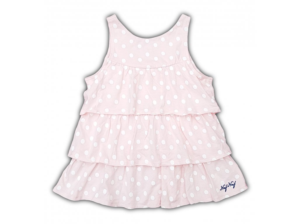 Dívčí šaty NAF NAF 1016- puntík, růžové