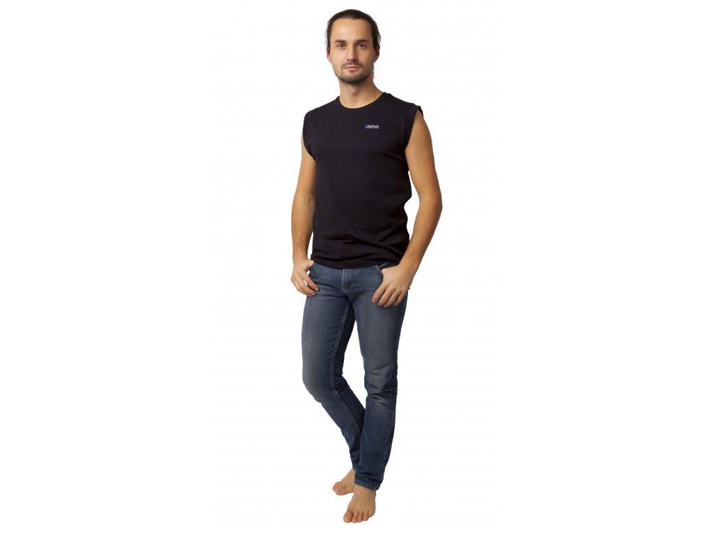 Pánské triko bez rukávu CALVI 20-069 - černé