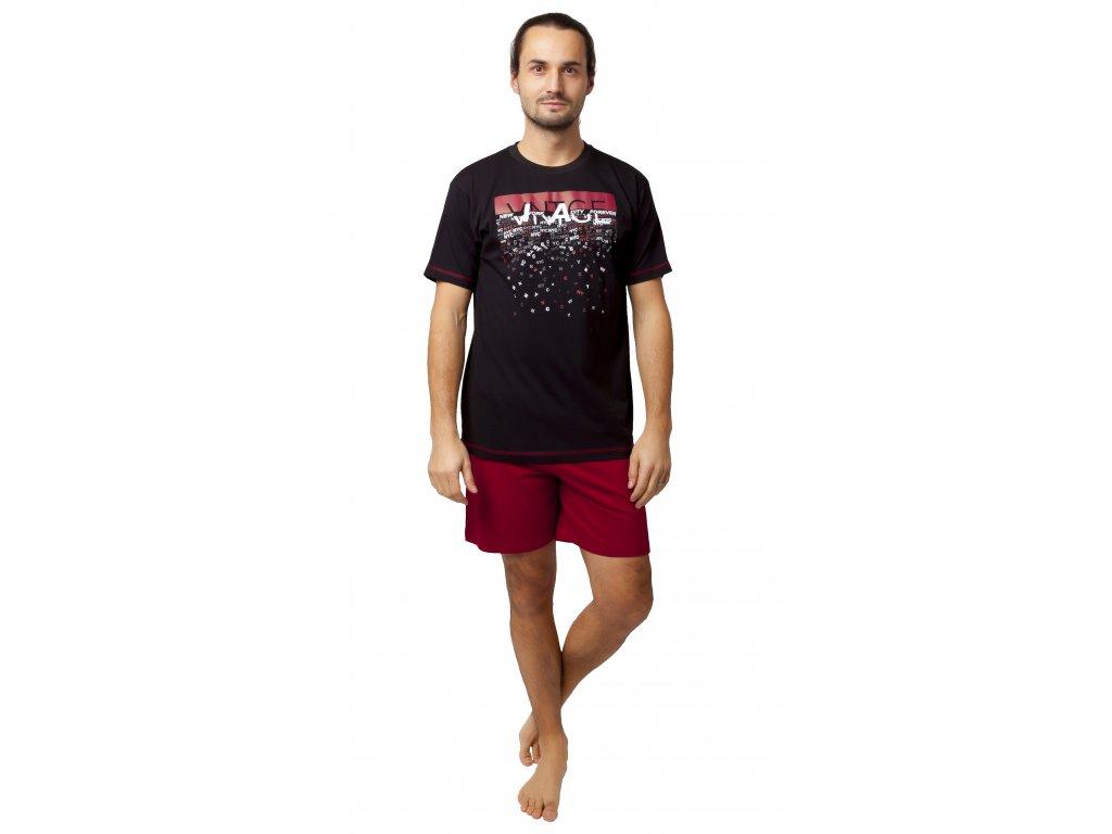 Pánské pyžamo CALVI 20-127 - černé
