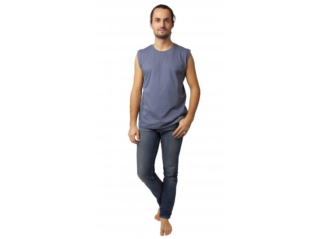 Pánské triko bez rukávů CALVI 20-068 - šedé