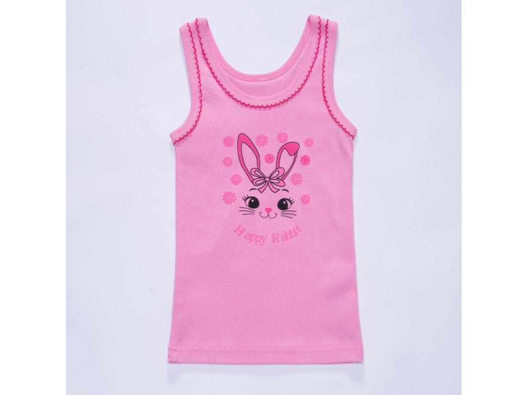Dívčí spodní košilka S2861 - růžová (Velikost 98/104)