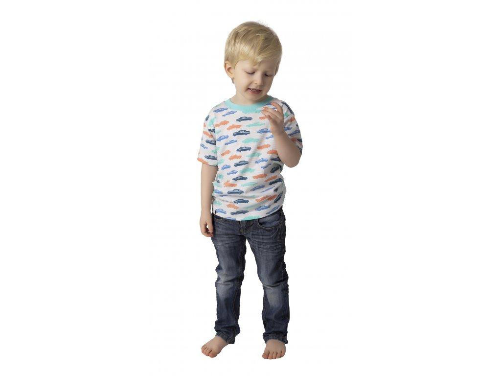 Chlapecké triko CALVI 18-118 - sv. modré