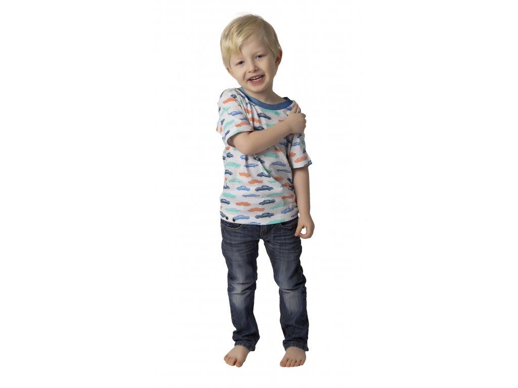 Chlapecké triko CALVI 18-118 - petrolejové