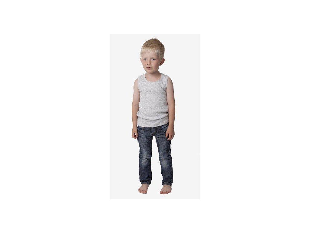 Chlapecké spodní tílko CALVI 18-414 - šedé (Velikost 140)