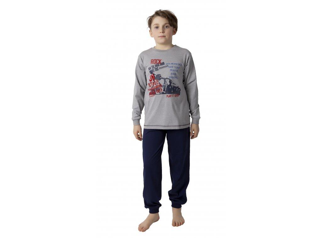 Chlapecké pyžamo CALVI 18-192 - tm. šedé