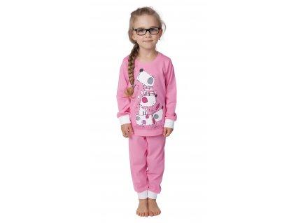 Dětské pyžamo CALVI 17-524 - růžové
