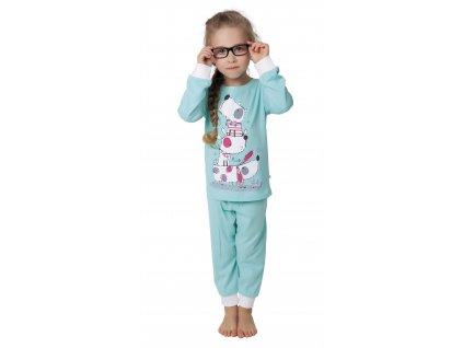 Dětské pyžamo CALVI 17-524 - sv. tyrkysové