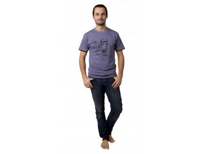 Pánské triko CALVI 13-076 - šedá