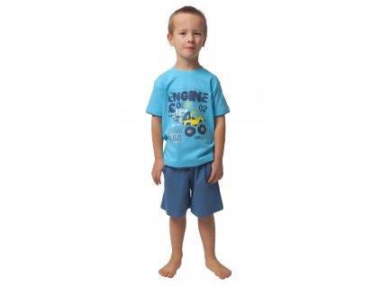 Chlapecké pyžamo s kraťasy CALVI 19-075 -  tyrkysové