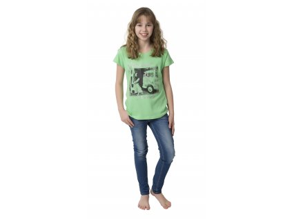 Dívčí triko CALVI 17-273 - zelené