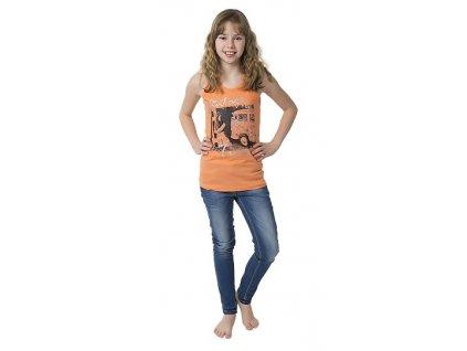 Dívčí tílko CALVI 17-261 - oranžové