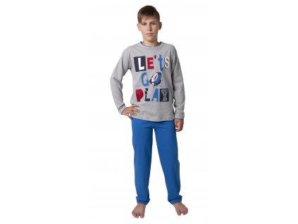 Chlapecké pyžamo CALVI 18-334 - šedý melír