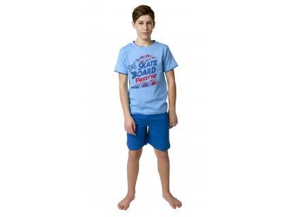 Chlapecké pyžamo s kraťasy CALVI 19-079 - modré