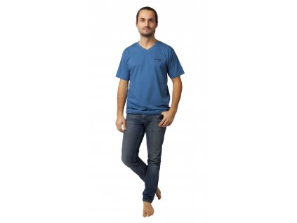 Pánské triko CALVI 20-078 - modré
