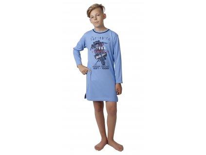 Chlapecká noční košile CALVI 17-520 - modrá