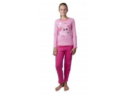 Dívčí pyžamo CALVI 18-425 - růžové