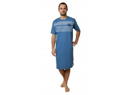 Pánská noční košile CALVI 19-071 - tmavší modrá