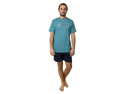 Pánské pyžamo s kraťasy CALVI 19-088 - zelené